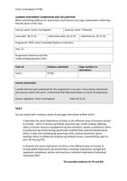 ESSAY: Unit 37 - Understanding Business Ethics - P3 M2