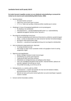 SAMENVATTING: KT&S Uitgewerkte leerdoelen, blok B