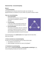 SAMENVATTING: Samenvatting Edumundo B-lijn - Consumentengedrag