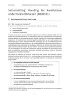 SUMMARY: Samenvatting Kwalitatieve Onderzoekstechnieken