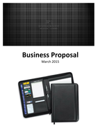 ESSAY: Business Proposal