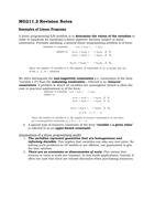 SUMMARY: MG211.2 Revision Notes