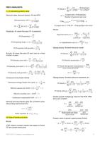 SUMMARY: FM212 Equations and Ideas