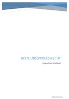 SUMMARY: Samenvatting Bestuurs(proces)recht