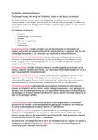 SAMENVATTING: Psychologie H 1 t/m H 7