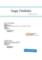 OTHER: Portfolio U1 stage Buurtzorg