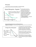 LECTURE NOTES: Monopoly and Perfect Competition Notes and Graphs Study Guide