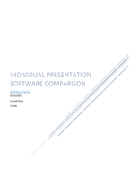 ESSAY: Individual presentation Software comparison
