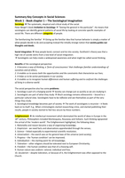 SAMENVATTING: CM1013 Key Concepts in the Social Sciences book