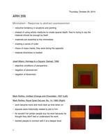 SUMMARY: modern art notes