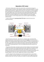 SAMENVATTING: The DC motor
