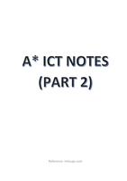 SAMENVATTING: IGCSE/ O-LEVEL A* ICT NOTES (PART 2)