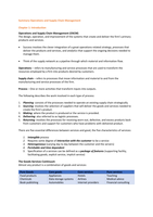 SAMENVATTING: Summary Operations & Supply Chain Management