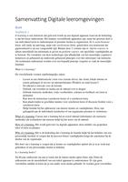 SAMENVATTING: Samenvatting Boek & Artikelen Digitale leeromgevingen Nieuwe opzet 2016-2017
