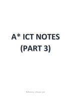SAMENVATTING: IGCSE/ O-LEVEL A* ICT NOTES (PART 3)