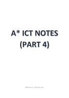 SAMENVATTING: IGCSE/ O-LEVEL A* ICT NOTES (PART 4)