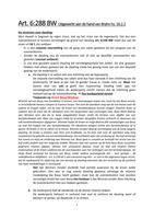 SAMENVATTING: Blok 1.2 Inleiding Privaatrecht - Art. 6:288 BW (dwaling) uitgewerkt aan de hand van 'Zwaartepunten in het Vermogensrecht