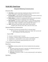 Exam: MAR 3023 Final Exam Study Guide- Dr. Hopkins