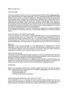 SAMENVATTING: Business Organisation & Law, chapter 2