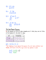 LECTURE NOTES: Solving Polynomial Equations Notes
