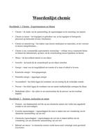 SUMMARY: Woordenlijst algemene chemie: alle hoofdstukken