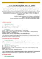 Exam: Fiche pour plan analytique d'Arrias de La Bruyère
