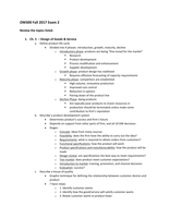 LECTURE NOTES: OM 300 test 2