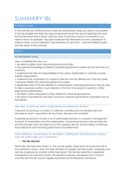 SUMMARY: summary 'Oriëntatievak International Business Law'