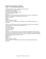 Exam: Dessler 15e C05