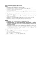 SUMMARY: Nederlandse Samenvatting Fundamental Rights in Europe week 1 t/m 7