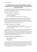 ESSAY: Unit 5 - Perception of science - Applied Science Level 3 - M1