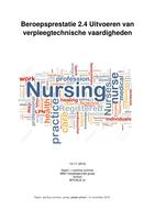 THESIS: Beroepsprestatie 2.4 Uitvoeren van verpleegtechnische vaardigheden