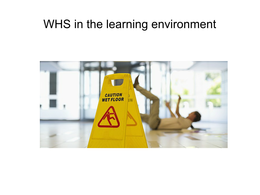 Answers: BSBCMM401 - WHS/OHS in the learning environment
