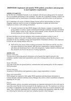 Answers: BSBWHS401 - implement and monitor WHS policies procedures and programs to meet legislative requirements