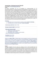 Answers: Uitwerking werkgroepen Vennootschaps -en rechtspersonenrecht week 1 t/m 7