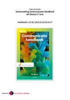 SUMMARY: Communicatiehandboek samenvatting - Wil Michels 5e druk