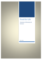 SAMENVATTING: Food for life - lectures and cases