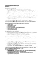 SAMENVATTING: Toegepaste organisatiekunde Samenvatting H1 tm H5