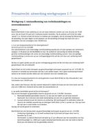 Antwoorden: Privaatrecht werkgroepen casus en antwoorden