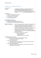 SAMENVATTING: M&O3 Eventmanagement