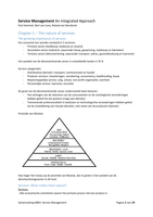 SAMENVATTING: Samenvatting M&O2 - Servicemanagement