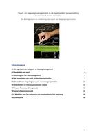 SAMENVATTING: Sport- en beweegmanagement samenvatting - incl. OEFENVRAGEN