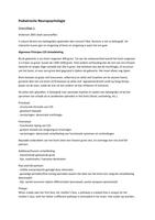 COLLEGEDICTAAT: Hoorcolleges en Practica Pediatrische Neuropsychologie