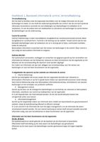 SAMENVATTING: Samenvatting Inrichten & Beheersen (BIV 2) - IEB - Basisboek informatie & control - 2016/2017