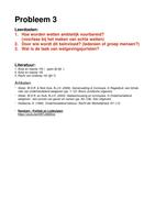 OVERIG: Rechtssociologie Uitwerking Werkgroep 3