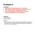 OVERIG: Rechtssociologie Uitwerking Werkgroep 4