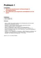 OVERIG: Rechtssociologie Uitwerking Werkgroep 1