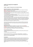 SAMENVATTING: Summary Chapter 1-7 Logistics & Supply Chain Management - Martin Christopher