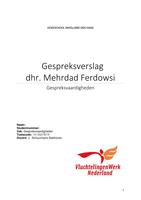 AUTRE: Gespreksverslag M.Ferdowsi