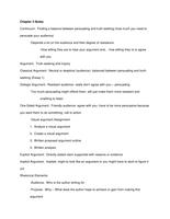 NOTES DE COURS: Chapter 2 Notes